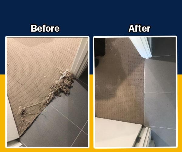carpet repairs at walls